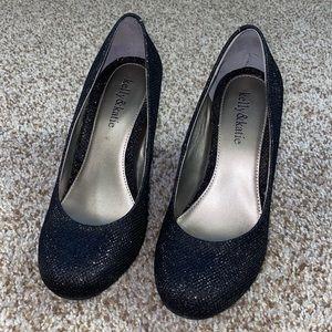 Kelly & Katie black sparkly heels